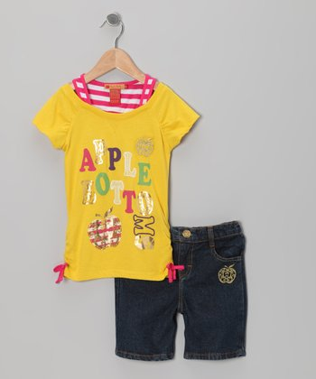 Dandelion Layered Top & Shorts - Infant, Toddler & Girls