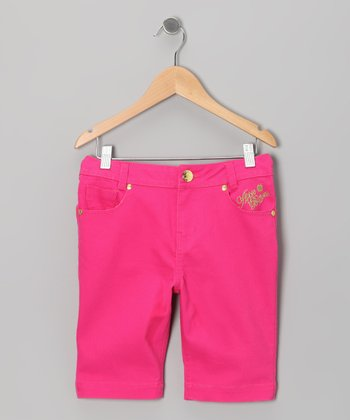 Fuchsia Purple Bermuda Shorts - Toddler & Girls