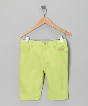 Green Glow Bermuda Shorts - Toddler & Girls