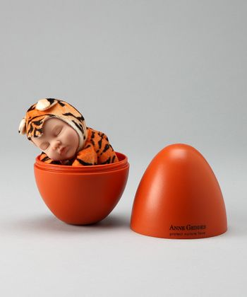Orange Tiger Plush Baby Doll