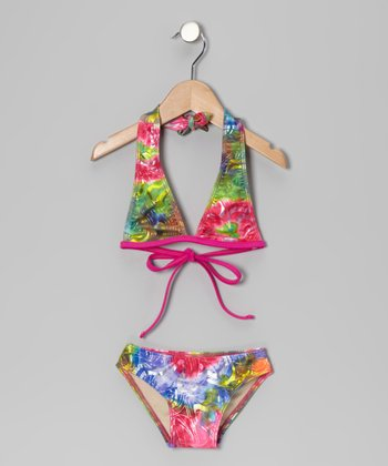Pink Splash Bikini - Toddler & Girls