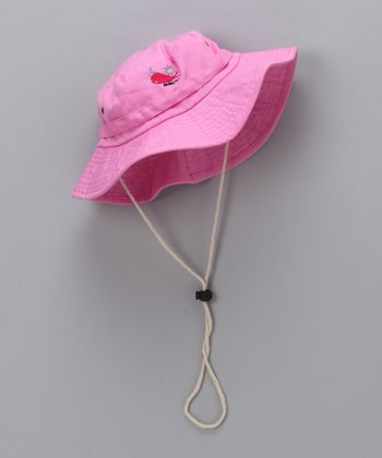 Hot Pink Sunhat - Toddler & Girls