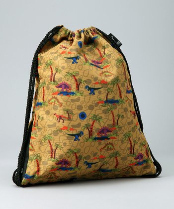 Wildkin Gold Dinosaur Drawstring Backpack