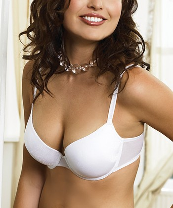 White Gel Push-Up T-Shirt Bra - Women