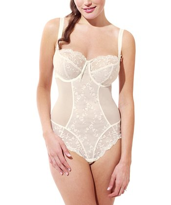 Ivory Confetti Full-Fit Bodysuit - Women & Plus