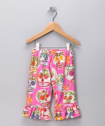 Pink Sugar Skull Capri Pants - Toddler & Girls