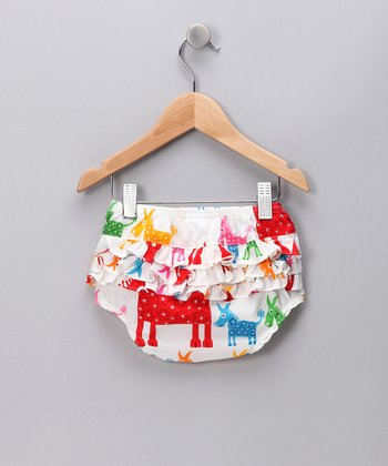 Red Piñata Ruffle Diaper Cover - Infant