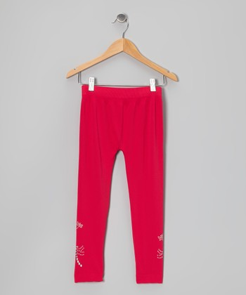 Fuchsia Dragonfly Leggings