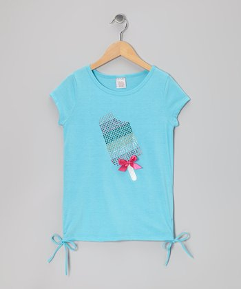 Blue Popsicle Side-Tie Tee