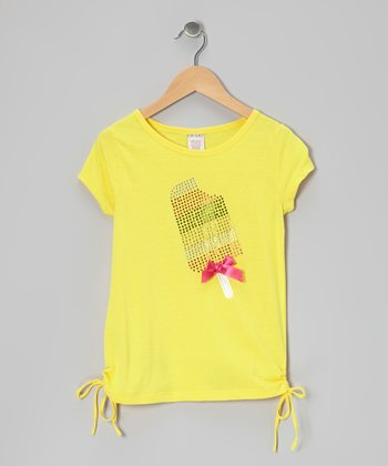 Yellow Popsicle Side-Tie Tee