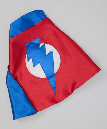 Red & Blue Lightning Leader Sidekick Toy Cape