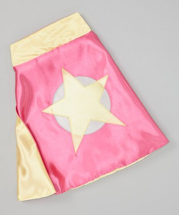 Hot Pink & Yellow Soaring Star Sidekick Toy Cape