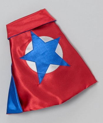 Red & Blue Soaring Star Sidekick Toy Cape