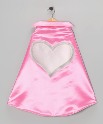 Hot Pink & Light Pink Heroic Heart Two-Ply Hero Cape