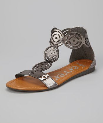 Pewter Cutout Gladiator Sandal