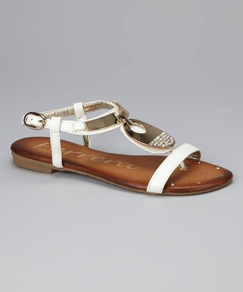 White Canadian Crystal Sandal