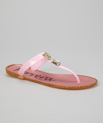 Pink Fruity Gemstone Sandal