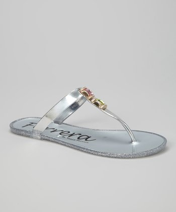 Silver Fruity Gemstone Sandal