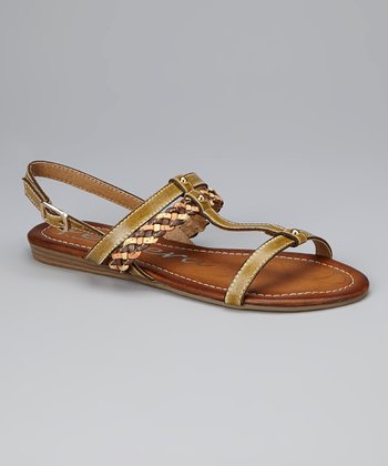 Beige Braided Sandal