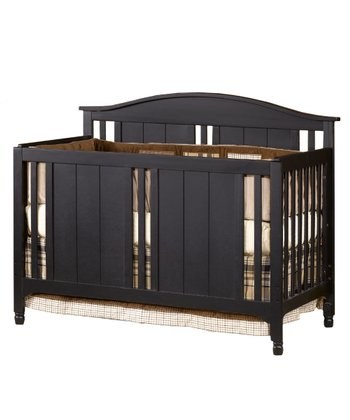 Distressed Matte Black Watterson Lifetime Convertible Crib