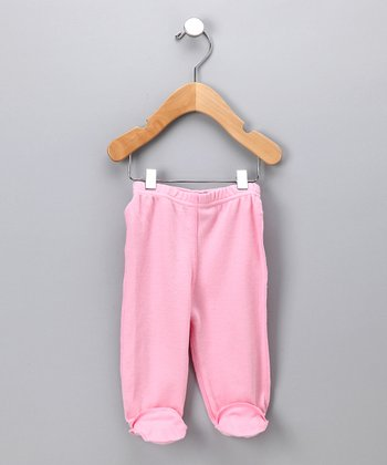 Pink Organic Footie Pants