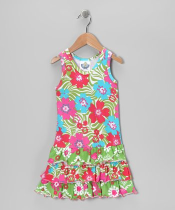 Green Chandelier Racerback Dress - Infant, Toddler & Girls
