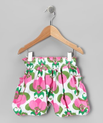 Pink Mod Flower Bubble Shorts - Infant