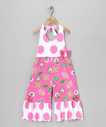 Hot Pink Summertime Jumpsuit - Toddler