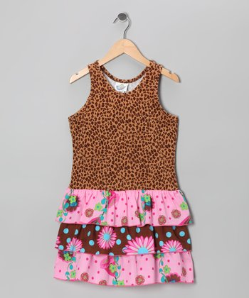 Leopard Morning Glory Drop-Waist Dress - Infant, Toddler & Girls