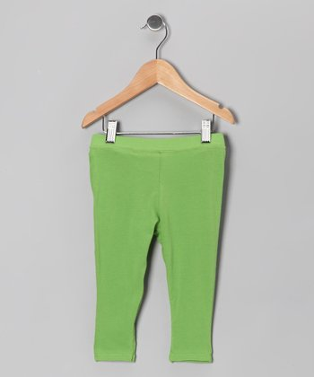 Green Leggings - Infant