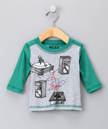 Gray & Green Mini Studio Tee - Infant