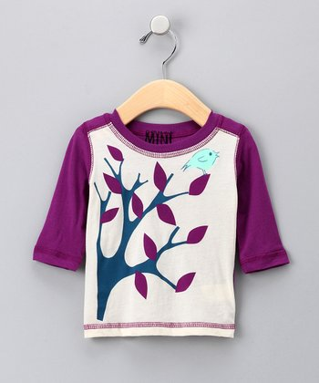 Natural & Berry Bird Organic Raglan Tee - Infant