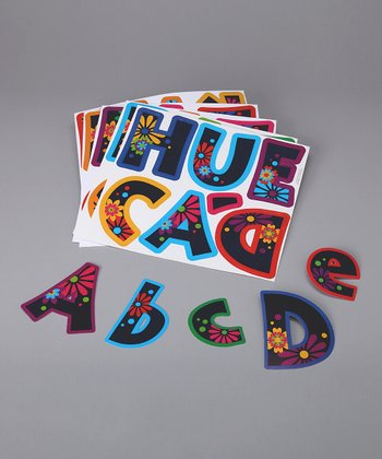 Multicolor Flower Letter Pop-Out Set