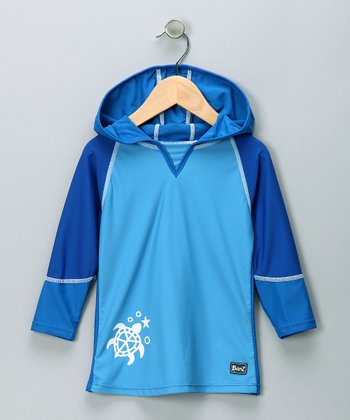 Blue Turtle Rashguard - Infant