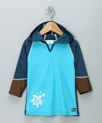 Blue & Brown Rashguard - Infant
