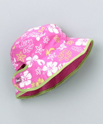 Pink & Green Reversible Bucket Hat