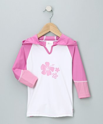 Pink & White Rashguard - Infant