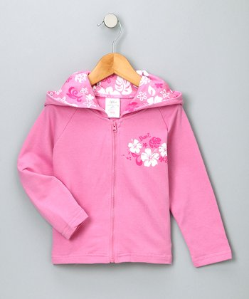 Pink French Terry Zip-Up Hoodie - Infant