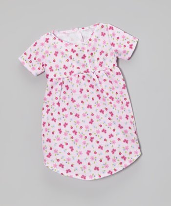 Pink Butterfly Doll Nightgown