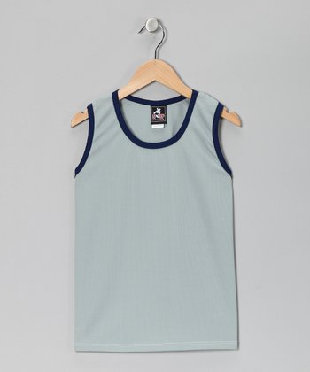 Gray & Navy Tank - Boys