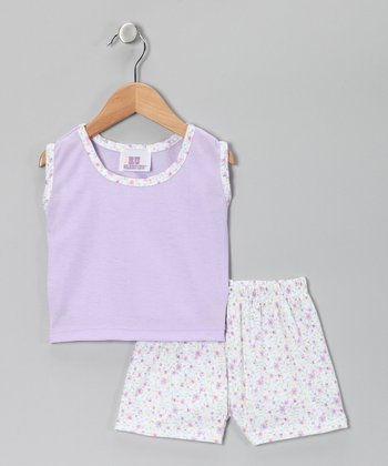 Purple Lidia Pajama Set - Toddler & Girls