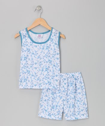 Blue Julia Pajama Set - Toddler & Girls
