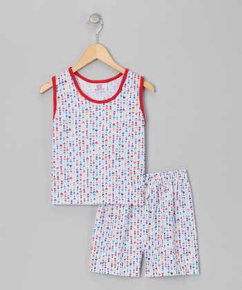 White Heart Pajama Set - Toddler & Girls
