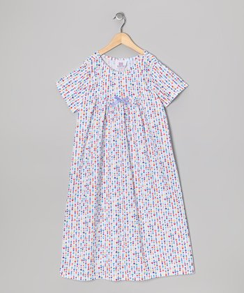 White Heart & Bow Nightgown - Toddler & Girls