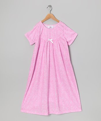 Pink Heart & Bow Nightgown - Toddler