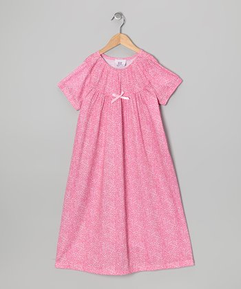 Pink Leopard Bow Nightgown - Toddler