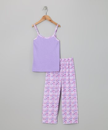 Purple Valerie Pajama Set - Girls