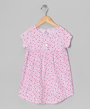 Pink Butterfly Nightgown - Toddler & Girls