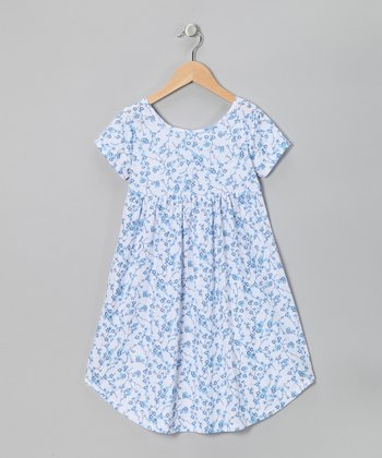 Blue Julia Nightgown - Toddler & Girls