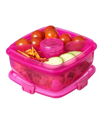 Pink Salad-to-Go Container - Set of Two